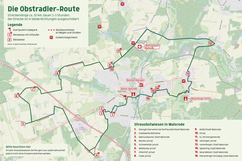 Karte Obstradler